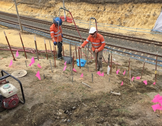 Cmw jet grouting for Soil grouting